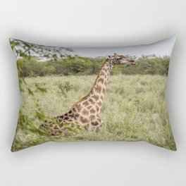 giraffe big Rectangular Pillow