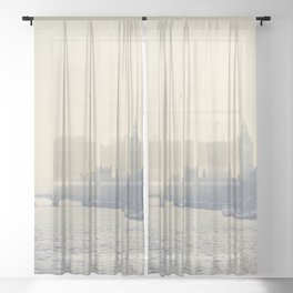 the city of London ... Sheer Curtain