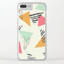Geometric Mint Pattern Design 015 Clear iPhone Case