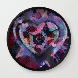 Candy Hearts 1 Wall Clock