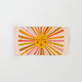 Sunshine – Retro Ochre Palette Hand & Bath Towel