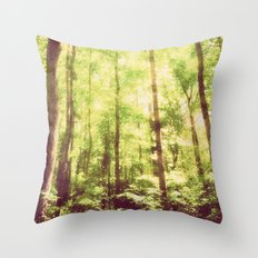 Untamed Forest Throw Pillow