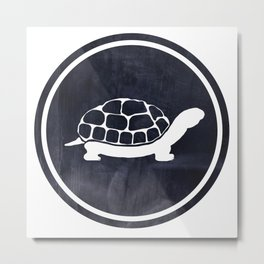 Turtle Illustration Metal Print