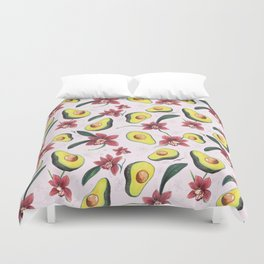 Avocados & Orchids Duvet Cover