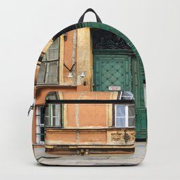 Orange and Green Budapest Facade Backpack
