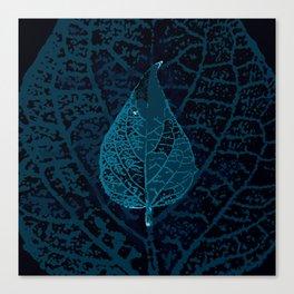 X-ray of a leaf Canvas Print