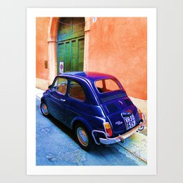 Blue Car 2 Art Print