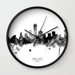Dallas Texas Skyline Wall Clock
