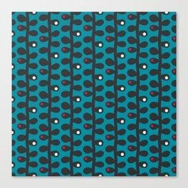 Like a Leaf [blue] Canvas Print