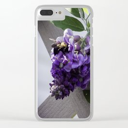 Wisteria & Bee Clear iPhone Case