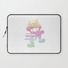 MonsterCat Typography Laptop Sleeve