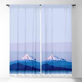 Geometric Mount Fuji, Tokyo, Japan Blackout Curtain