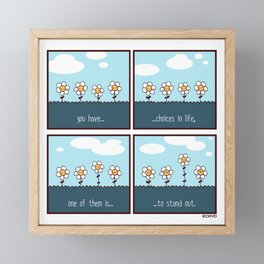 Stand Out Framed Mini Art Print