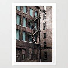 Teal & Brick Art Print