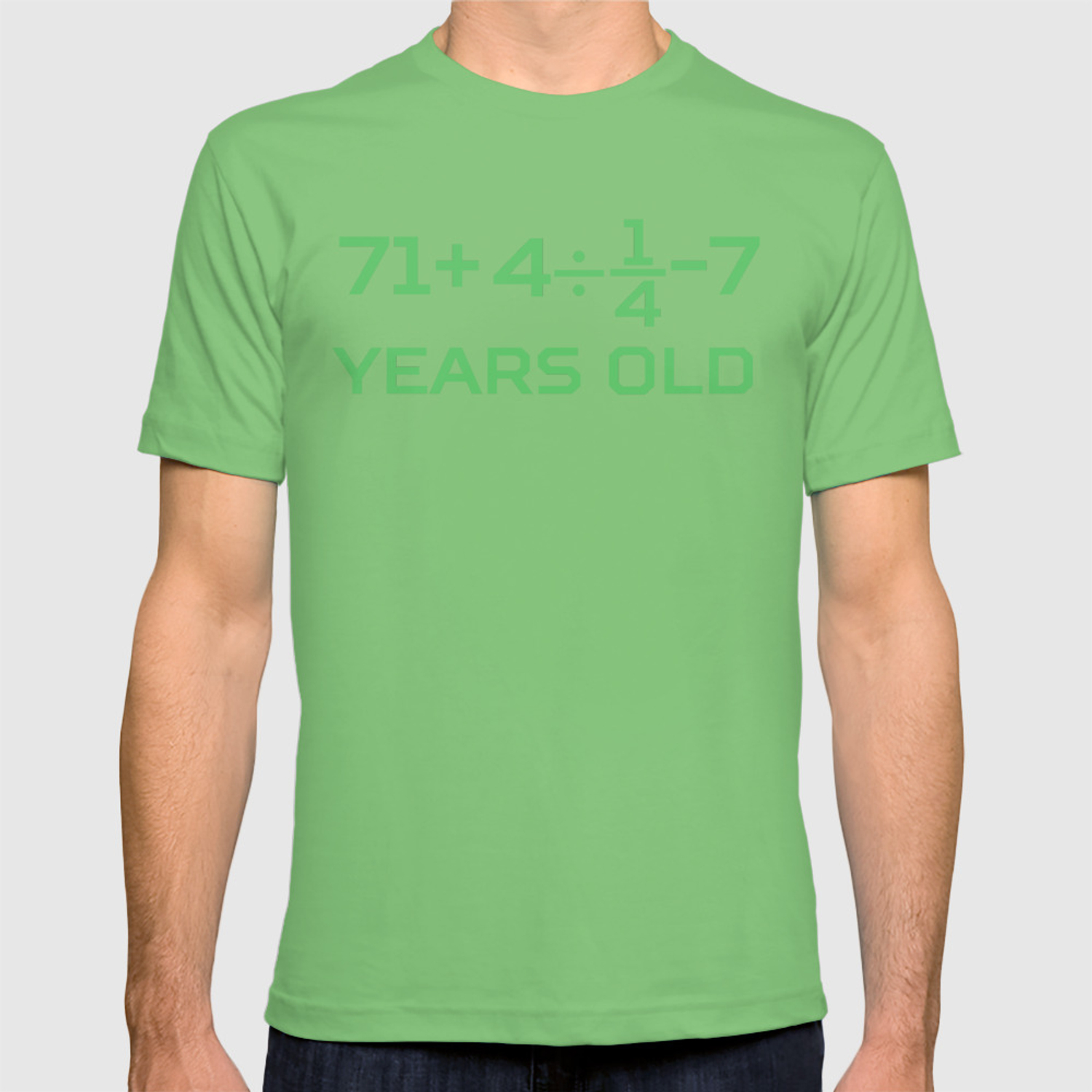 15fabaf34 80 Years Old Math Equation Funny 80th Birthday T-shirt by awesomeart |  Society6