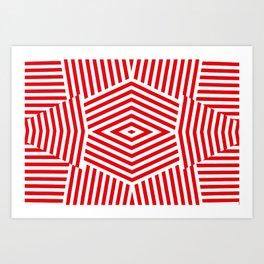 Nestor Red Art Print