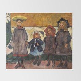 Four Girls in Åsgårdstrand by Edvard Munch Throw Blanket