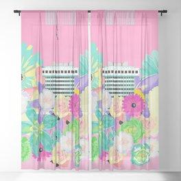 CENTROFLOWERS #fridaysforfuture Sheer Curtain