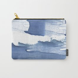 Steel blue blurred watercolor texture Carry-All Pouch