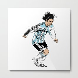 Leo Messi Metal Print