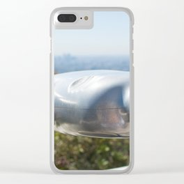Coin operated telescope at the Griffith Observatory Clear iPhone Case