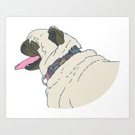 Apollo The Pug Art Print