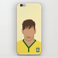 neymar iPhone & iPod Skins featuring NEYMAR by Anthony Morell