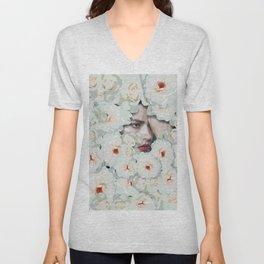 Flower woman Unisex V-Neck