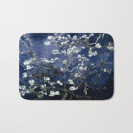 Vincent Van Gogh Almond Blossoms Dark Blue Bath Mat