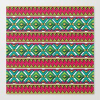 aztec Canvas Prints featuring Aztec by Shelly Bremmer
