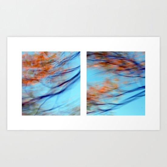 Autumn Impressions #2 - Diptych Art Print