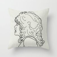 dolly parton Throw Pillows featuring Dolly Parton Embroidery by Little Stabs