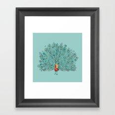 Mr Jackpots - Peacock illustration Framed Art Print
