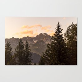 French Alps Senset Canvas Print