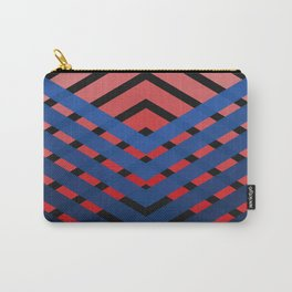 Blue & Red Connections Carry-All Pouch