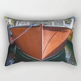 Red Lobstering boat Rectangular Pillow