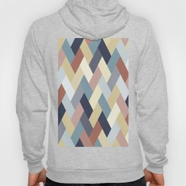 Earth Tones and Blues Geometry IA Hoody