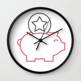 Piggy box Wall Clock