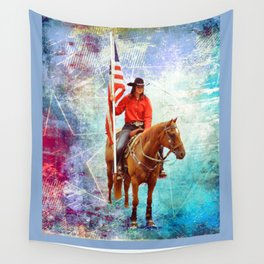American Cowgirl  Wall Tapestry