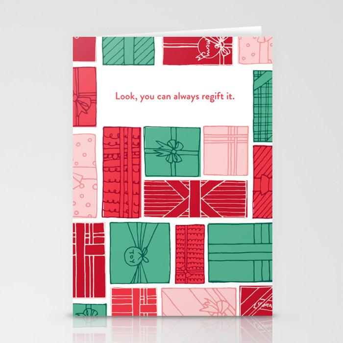 Just regift it. Stationery Cards