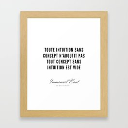 59   |  Immanuel Kant Quotes | 190810 Framed Art Print
