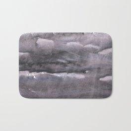 Gray nebulous wash drawing painting Bath Mat