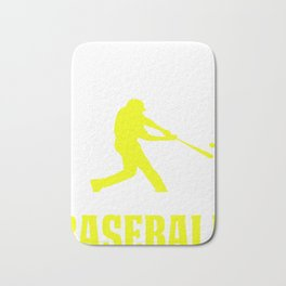 Funny Baseball Design I Don't Need Therapy 2 Bath Mat