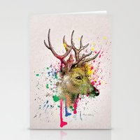 deer Stationery Cards featuring deer by mark ashkenazi