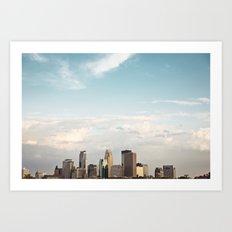 Minneapolis, Mn. Skyline.  Art Print