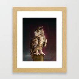 Eagle Owl Portrait Framed Art Print