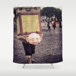 The weight of Glasto Shower Curtain
