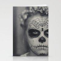 dia de los muertos Stationery Cards featuring Dia de los muertos by Brandy Coleman Ford