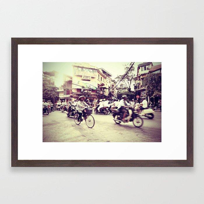 streets of hanoi Framed Art Print