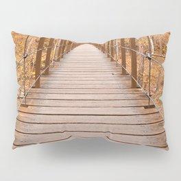 Golden Grove Suspension Bridge Pillow Sham